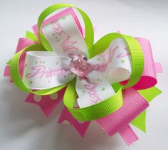 Princess Boutique Handmade Hair Bow On by JustinesBoutiqueBows