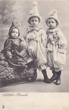 "TUCK #1631; ""Little Pierrots"", Children dressed as French clowns, PU-1905"