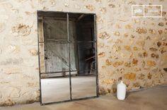 El espejo de 6 secciones es un espejo vintage que se puede colocar en cualquier habitación del hogar.
