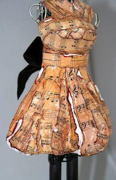 Nine Ladies Dancing paper mache ballerina dress.
