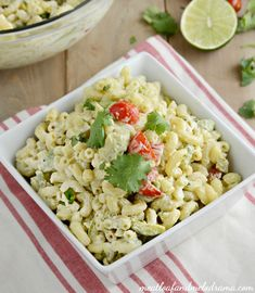 Instant Pot Southwest Macaroni Salad is an easy summer side dish for barbecues and cookouts and full of delicious Southwestern flavors. It's easy to make the pasta in the Instant Pot and mix in the remaining ingredients before serving! Picnic Side Dishes, Summer Side Dishes, Side Dishes Easy, Side Dish Recipes, Salad Recipes For Dinner, Easy Salad Recipes, Avocado Recipes, Summer Grilling Recipes, Barbecue Recipes