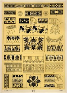 "Greek Ornamentation Patterns in ""Sources of Memorial Ornamentation"""