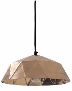HK-living Hanglamp koper diamond - wonenmetlef.nl