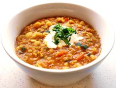 Kichererbsen-Linsen-Eintopf The perfect Chickpea Lentil Stew recipe with picture and simple step-by-step instructions: Heat the oil in a saucepan, the cumin seed … Lentil Stew, How To Cook Eggs, Recipe Today, Perfect Food, Vegetable Dishes, Lentils, Clean Eating, Veggies, Food And Drink