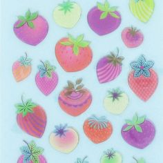 strawberries stickers from Paperchase