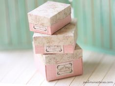 Dollhouse Miniature Antique Gift Boxes-dollhouse miniature gift boxes
