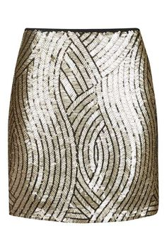 PETITE Psych Sequin Swirl Skirt