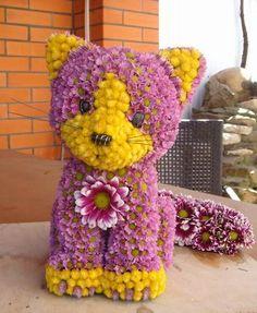 Arreglos florales de animalitos   Una bella decoración para el hogar , ya que siempre a nosotras nos gusta arreglar o decorar nuestro hogar...