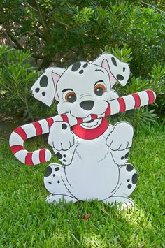 Dalmatian Christmas Candy Cane was custom made for client by ART DE YARD