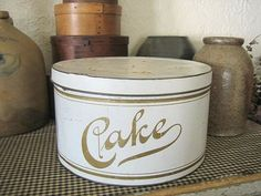 Vintage cake tins