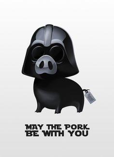 Pig Darth Vader from Star Wars by Lorenzo Sabia.