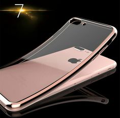 Chrome Lined Electroplating #iPhone7 Transparent TPU Soft Cases Covers Iphone, Iphone 6 Cases, Mobile Phone Cases, Iphone 5s, Iphone 7 Plus, Apple Iphone, Silver Iphone 7, Black Iphone 7, Mobile Cover Images