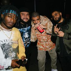 I love lil Uzi and Drake both so much omg Daddy Aubz and Tiny Uzi in one pic i cant