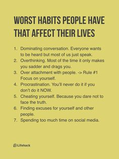 I honestly struggle with every single one of these. I want to change this moving forward. 2017, let's make some good changes