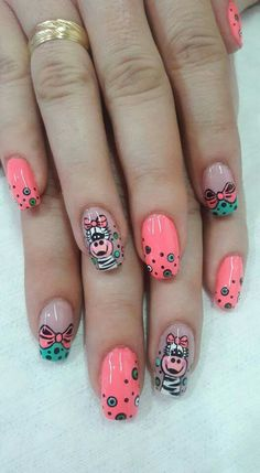 Designing Kid's Nails Love Nails, Pretty Nails, Cruise Nails, Nail Art For Kids, Animal Nail Art, Magic Nails, Diy Nail Designs, Minimalist Nails, Diy Nails