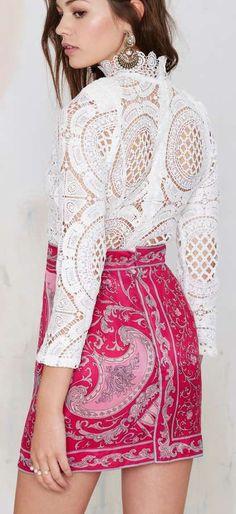 Vintage Emilio Pucci Elora Silk Skirt ==