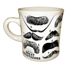 105 Affordable Christmas Gifts For Men: Mustache Mug ($13)