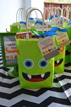 Monster Themed Boys Birthday Bash Party Favor Ideas