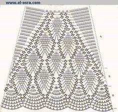 Saias em Crochê com Gráfico Modelos Variados da net