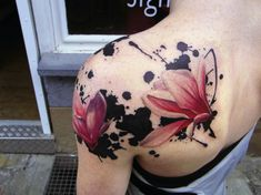 ink and water color tattoo