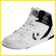 Converse Weapon HI Leather/Suede, Baskets pour homme - gris - BelugBlack, 40.5 EU
