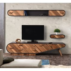 The How to Set Up Your Living Room ( Without a Focus on the TV ) Pitfall - myriadinspira unit decor Scandi Tv Cabinet Design, Tv Wall Design, Tv Unit Design, Tv Unit Decor, Tv Wall Decor, Tv Unit Furniture, Furniture Design, Modern Tv Wall Units, Living Room Tv Unit