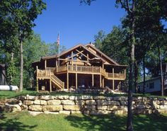 Missouri log home