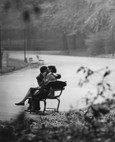 ... kissing on a park bench in the middle of town and....