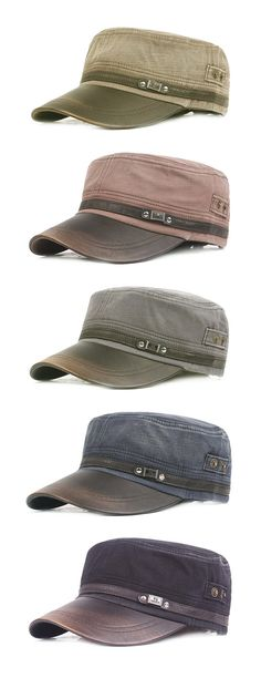 Men Flat Cap & Sun Hat: Breathable/ Washed / Outdoor Sports