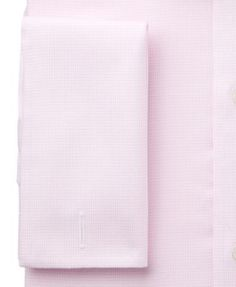 Tasso Elba Men's Classic/Regular Fit Non-Iron French Cuff Pink Houndstooth Dress Shirt, Only at Macy's - Pink 17 32/33