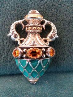 Enameled Citrines Barbara Bixby Wish Perfume Bottle Pendant 18K Gold 925 | eBay