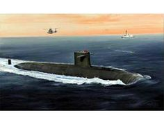 The Hobby Boss French Navy Le Triomphant SSBN in 1/350 scale from the plastic submarine model range accurately recreates the real life French triomphant class submarine. This plastic submarine kit requires paint and glue to complete.