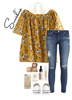 daisy by gabyleoni on Polyvore featuring polyvore, fashion, style, AG Adriano Goldschmied, Converse, Jennifer Zeuner, Casetify, Hoola, NYX, Marc Jacobs, MILK MAKEUP and clothing