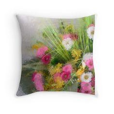 """Spring"" Throw Pillows by MaryTimman | Redbubble"