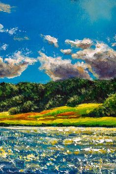 Beautiful sunny island in ocean - realistic oil painting. Realistic Oil Painting, Hand Painting Art, Graphic Illustration, Illustrations, Original Paintings For Sale, Back Art, Fairytale Art, Scene Creator, Landscape Art