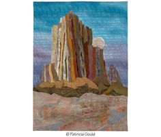 MOONRISE, SHIPROCK © 2012 Patricia Gould 35 x 25 inches $875  Main Photo by Gregory Case  EXHIBITIONS Canyons, Mesas, Mountains, Skies, Fuller Lodge Art Center, Los Alamos NM, March - May 2015 New Mexico Unfolding, special exhibit at Quil
