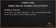 Student Safety Tips (tip 20)