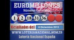Euromillones sorteo dia Viernes 6 de Diciembre 2013. Fuente: www.loterianacional.nom.es