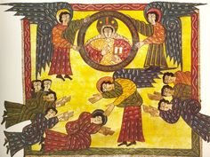 The Escorial Beatus is a 10th century illuminated manuscript of the Commentary on the Apocalypse by Beatus of Liébana.  Art Experience NYC  www.artexperiencenyc.com/social_login/?utm_source=pinterest_medium=pins_content=pinterest_pins_campaign=pinterest_initial