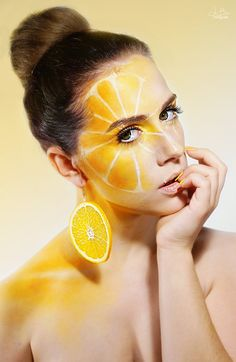 the orange (extreme make up) by TheBizarreBirdcage.deviantart.com on @deviantART