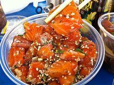 CLICK LINK BELOW! Furikake Salmon Pokē  Recipe courtesy Elmer Gonzalez, Poke Stop in Mililani, Hawaii.