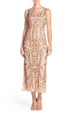 Pisarro Beaded Mesh A-Line Dress available at #Nordstrom