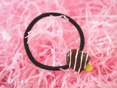 Kawaii Chocolate Swirl Popsicle Hair Tie / Bown by VintageLoser