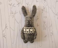 Oh Yes!!!  Felted Animal Needle Felted Bunny Needle Felted by healoom on Etsy, €20.00