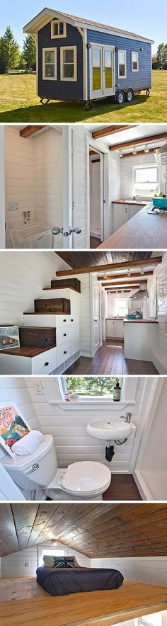 The Amalfi Edition tiny house. A 170 sq ft tiny house on wheels, made in Delta…