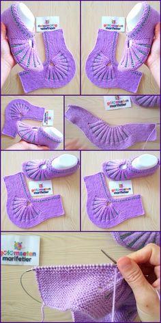 Crochet Ideas For Slippers, Boots And Socks - Diy Rustics, Hausschuhe unterhalten Crochet Ideas For Slippers, Boots And Socks - Diy Rustics, Diy Crochet Projects, Diy Crafts Crochet, Crochet Ideas, Diy Projects, Unique Crochet, Modern Crochet, Crochet Boots, Knit Crochet, Knitting Socks