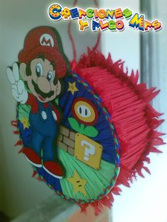 pinatas de mariposa - Buscar con Google Super Mario Birthday, Mario Birthday Party, Super Mario Party, Super Mario Bros, 4th Birthday, Mario Bros Cake, Mario And Luigi, Party Themes, Diy And Crafts