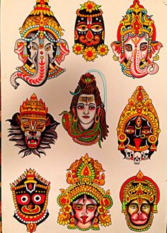 North American Gnostic Book of The Living — Robert Ryan - Electric Tattoo - New Jersey Hanuman Tattoo, Kali Tattoo, Ganesha Tattoo, Hindu Tattoos, God Tattoos, Desenhos Old School, Robert Ryan, Tibetan Art, Tatuagem Old School