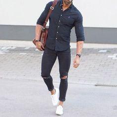 Resultado de imagen para look zapatillas blancas hombre
