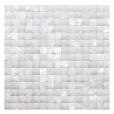 Nacre White 3d Pearl Tile - Nacre White 3D Pattern Glass Tile This captivating mother of pearl tile in white is artifully arranged in a 3D Square pattern. The pearl shell will add a durability and lasting exquisitness to your kitchen, or fireplace installation. These tiles are mesh mounted and will bring a sleek and contemporary clean design to any room. This tile in particular does not require grout. Chip Size: 20mm x 20mm Color: White Material: Pearl Shell Glass Finish: Polished Sold by…